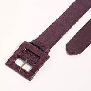 Free People NWOT Copenhagen Croc Leather Belt